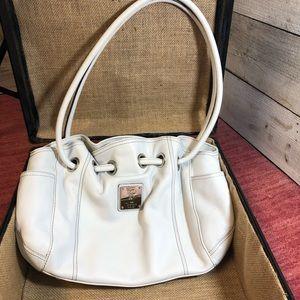 Tignanello Leather White Shoulder Bag